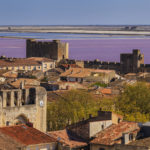 Ancient beautiful city in France. Languedoc. Camargue.